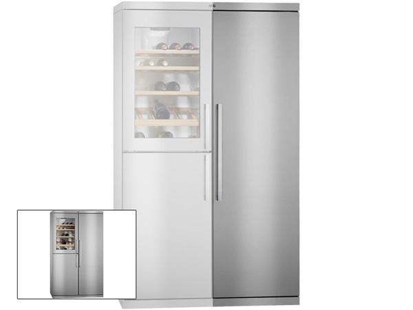 Grandes Ofertas Frigorifico de una puerta Vinoteca en la parte de arriba y congelador en la parte de abajo